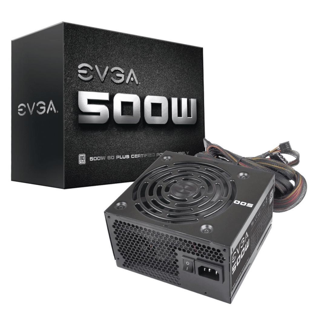 EVGA 500 W1, 80+ WHITE 500W
