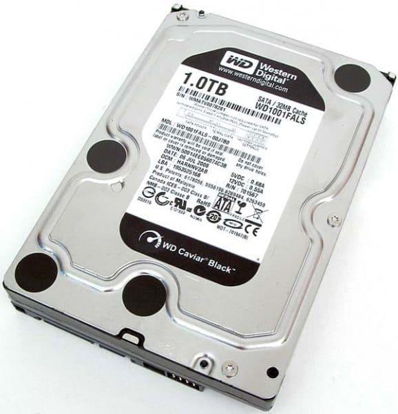 Western Digital 7200RPM 1TB HDD