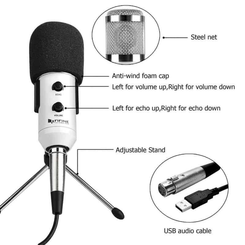 Fifine – Plug & Play Condenser Microphone