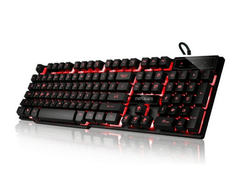 DBPOWER Three Colors LED Keyboard