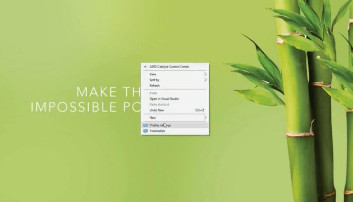 1. click Display Settings