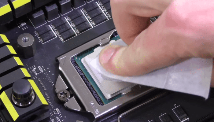 2. get rid of the remaining thermal paste