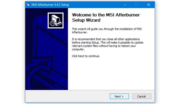 2. install MSI Afterburner