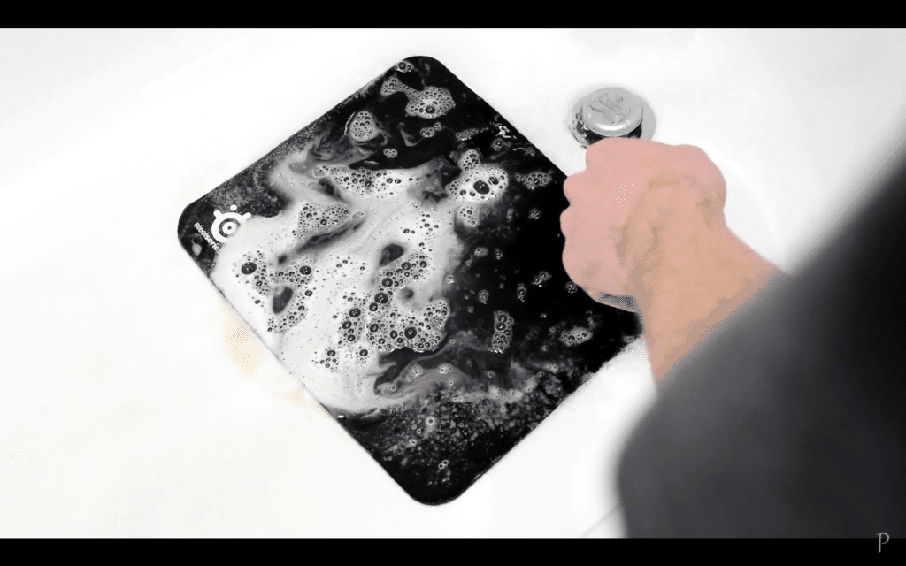 5. Rinse the brushed mousepad