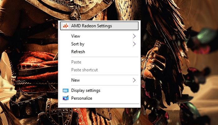 6. choose AMD Radeon Settings