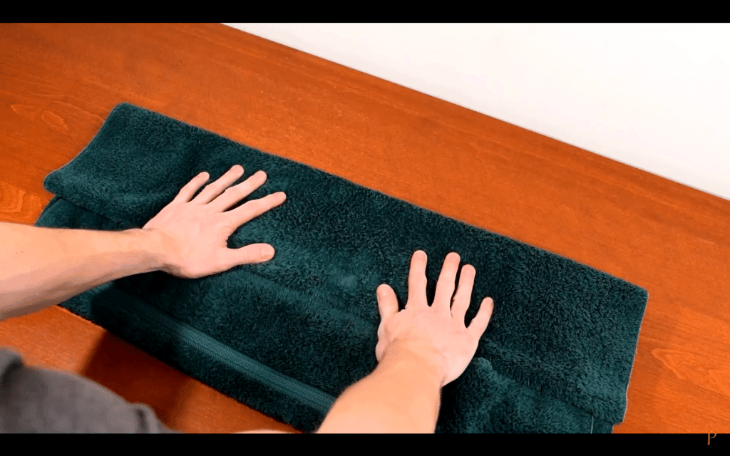 8. Press the towel