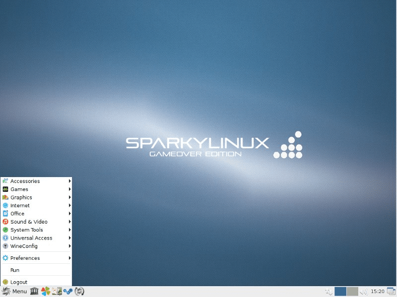 4. SparkyLinux – Gameover Edition