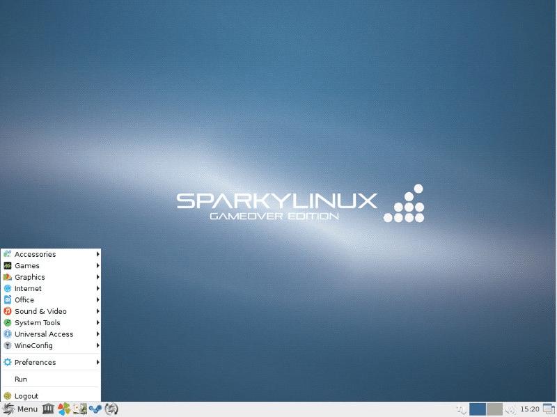 4. SparkyLinux – Gameover Edition