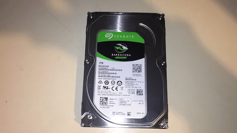 Seagate Barracuda (1TB) unboxing 2