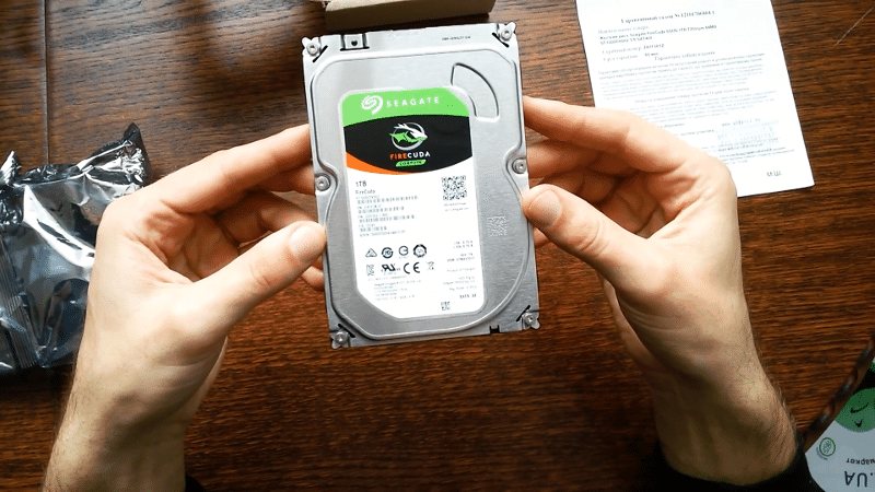 Seagate FireCuda (1TB) unboxing 2