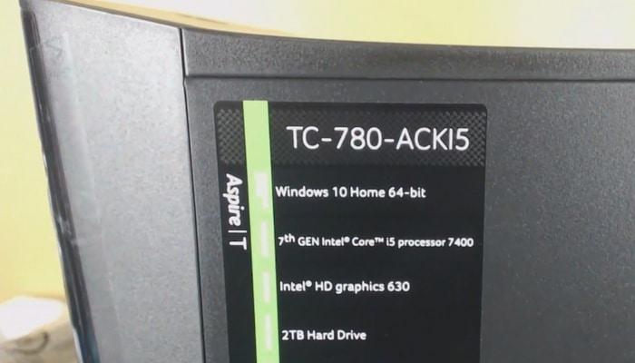 Acer Aspire TC 780 ACKI5 unboxing