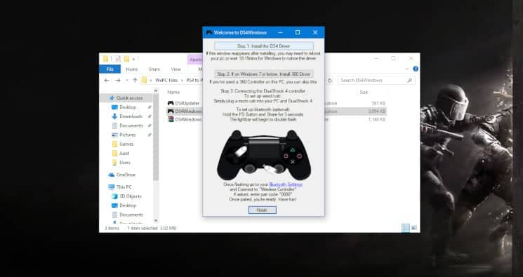 Click on Step 1 Install the DS4 Driver button