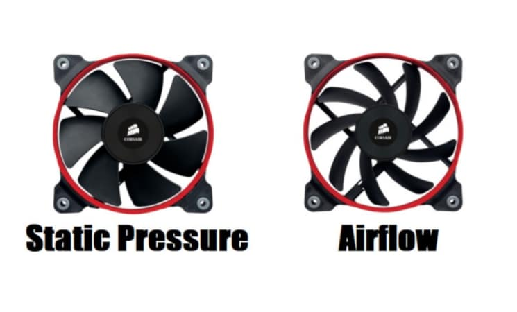 Static pressure vs Airflow