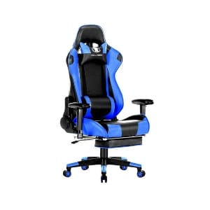 KILLABEE Big and Tall 350 lb Massage Memory Foam Gaming Chair