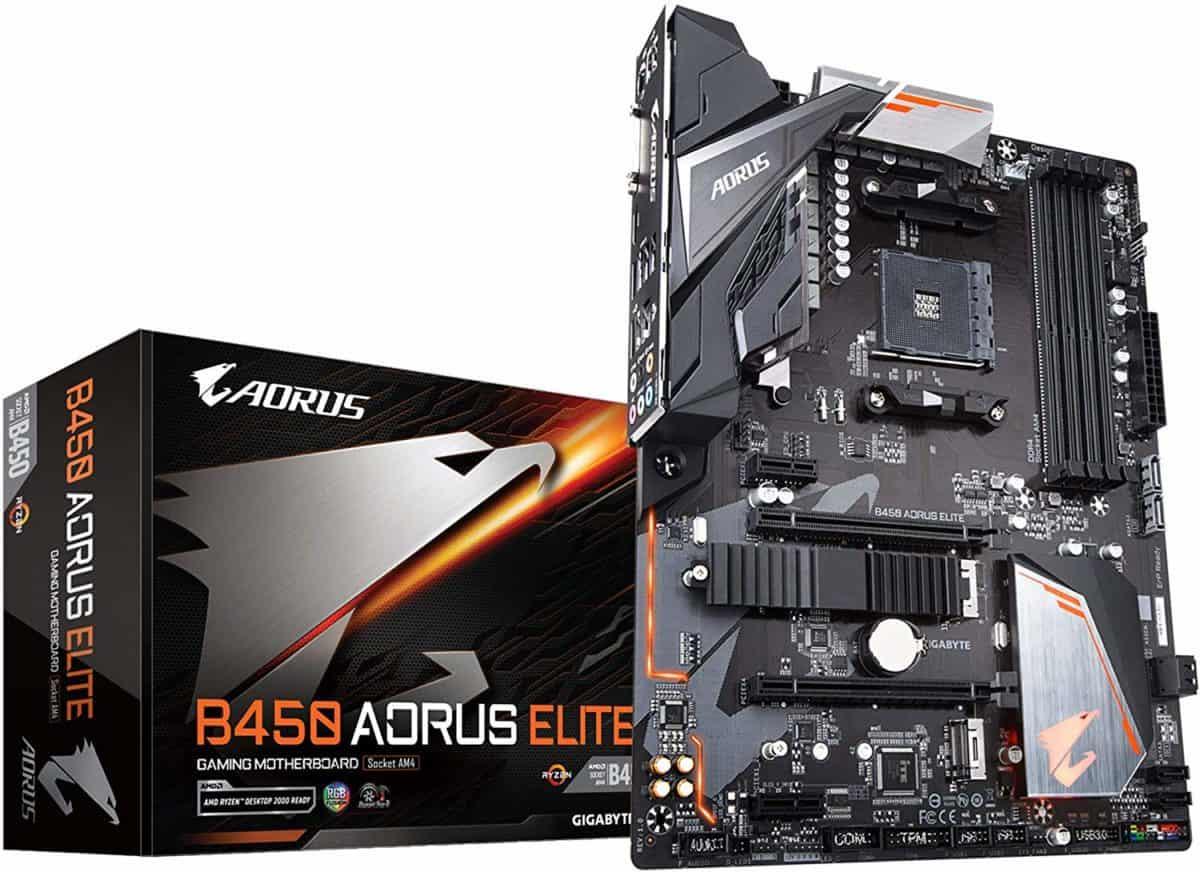 GIGABYTE B450 AORUS Elite AM4 Motherboard