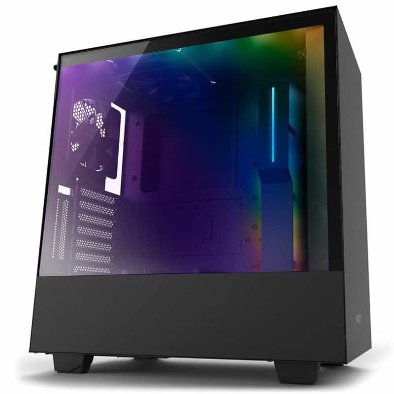 NZXT H500i Compact ATX Mid Tower PC Gaming Case RGB Lighting and Fan Control