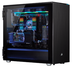 corsair hydro x water cooling pc 4