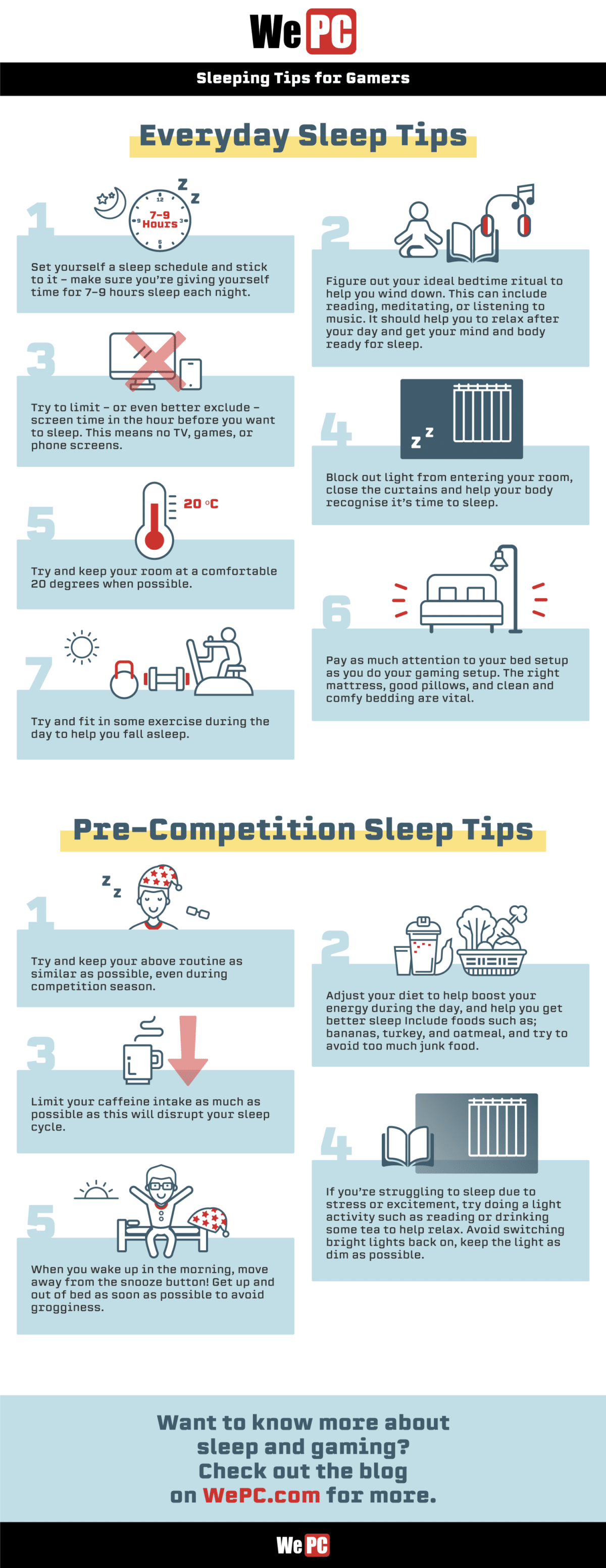 3 Sleeping Tips for Gamers