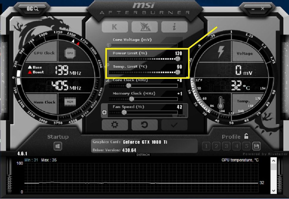 MSI Afterburner Power Limit