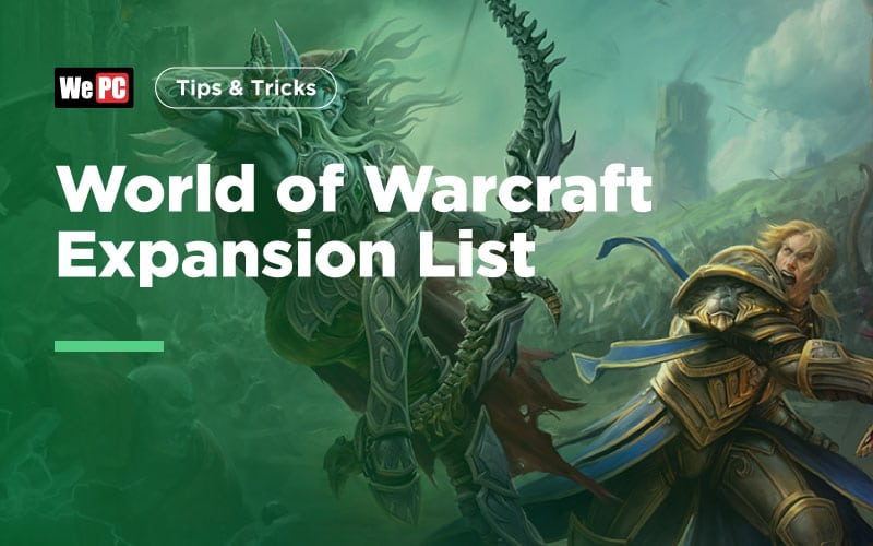 World of Warcraft Expansion List