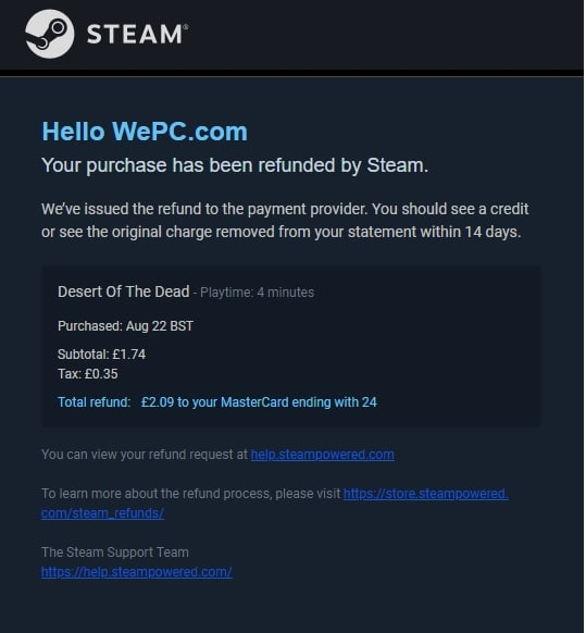 Completed refund