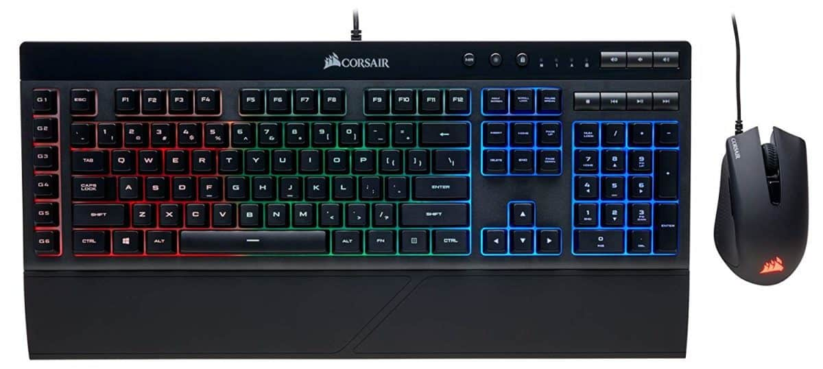 Corsair Gaming K55 + Harpoon