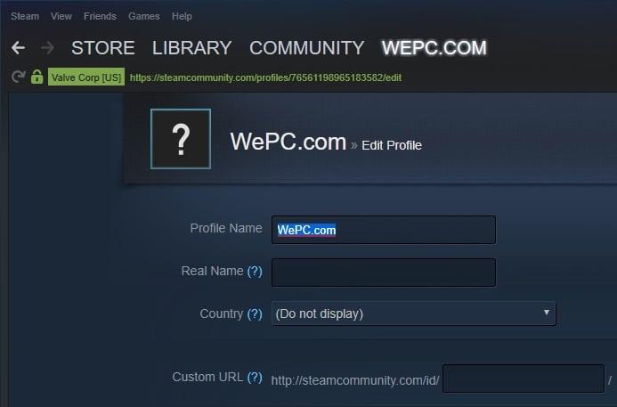 Steam Name