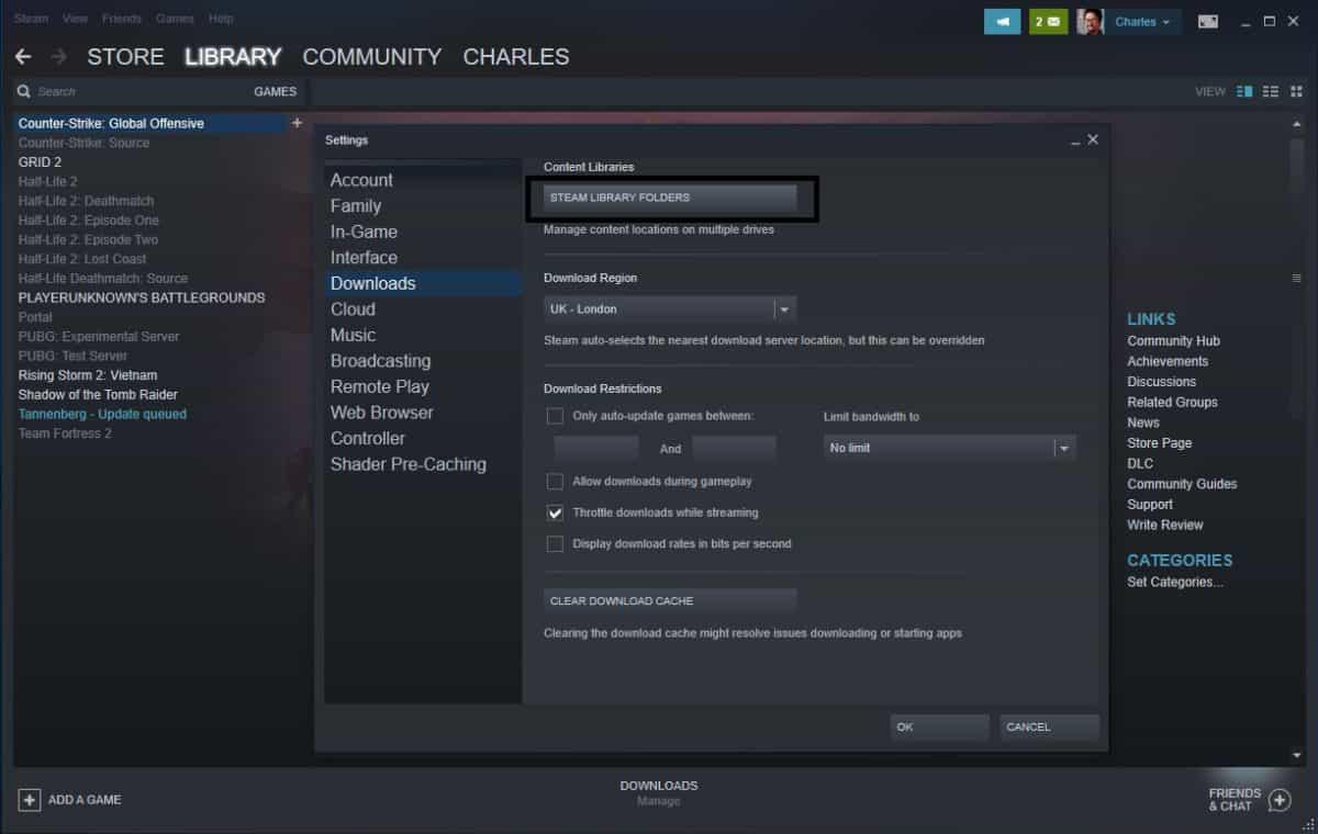Steam Library Folder
