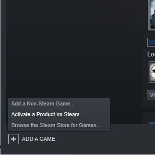 activate a game steam