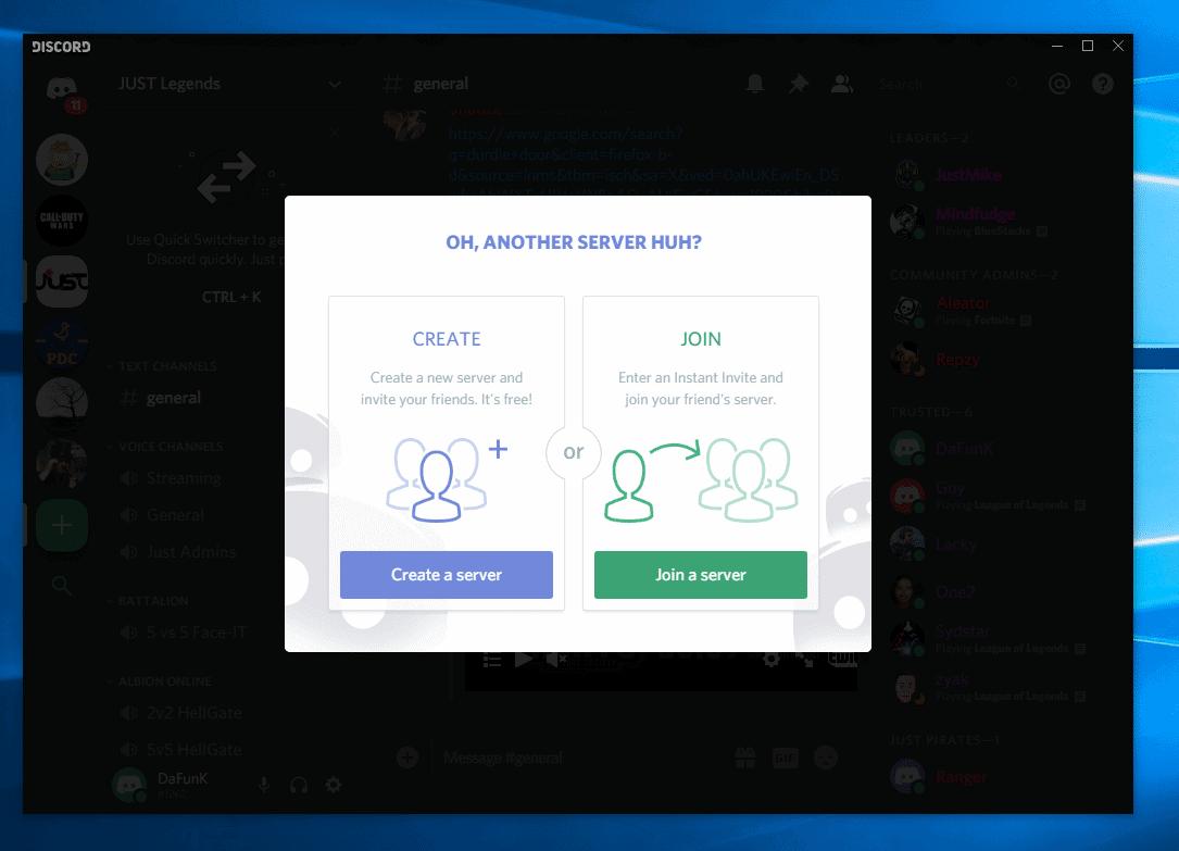 create server