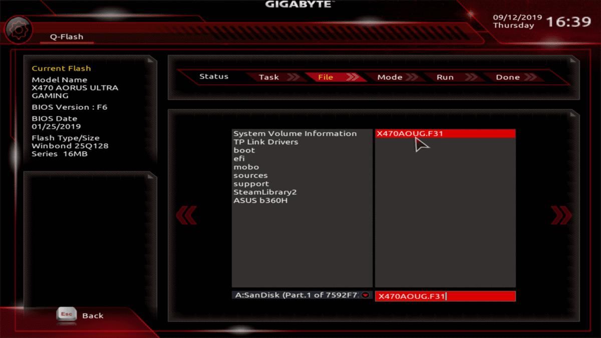 8 Choose BIOS Update file