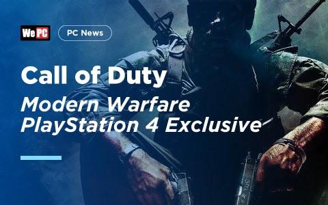 Call of Duty Modern Warfare PlayStation 4 Exclusive