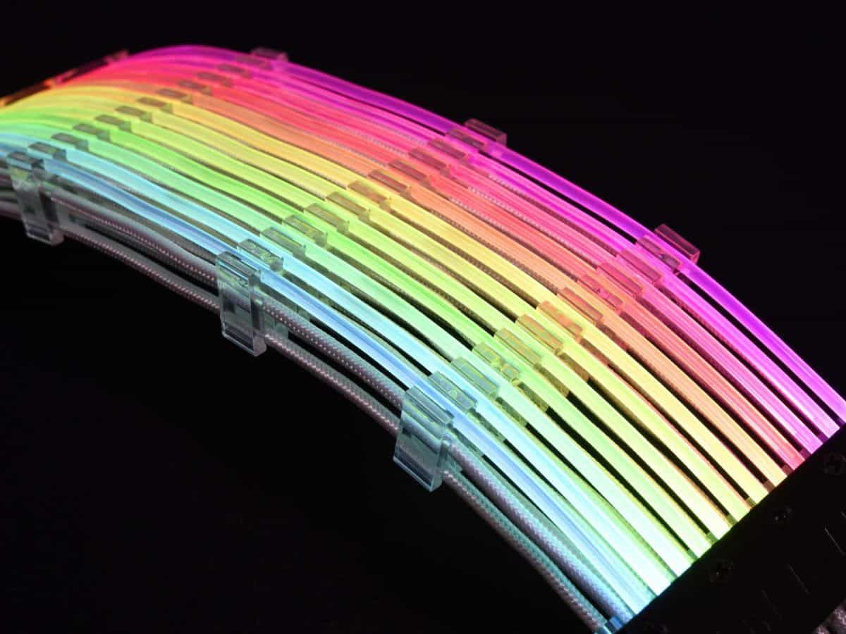 Lian Li Strimer RGB 24 Pin + 8 Pin PSU Cable