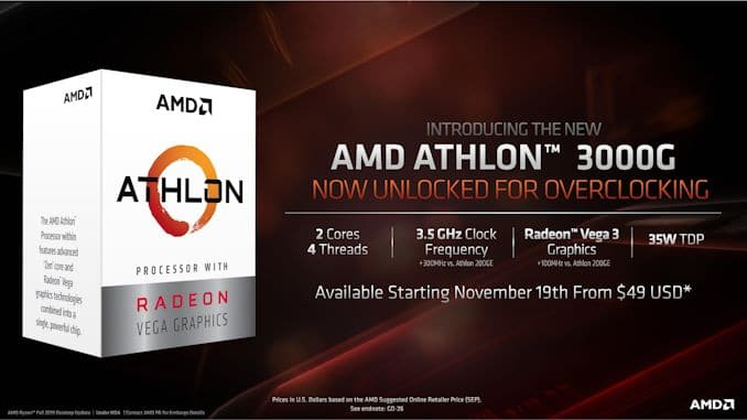 AMD Athlon 3000G specifications