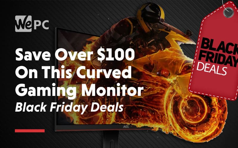 save over 100 on this curved gaming monitor