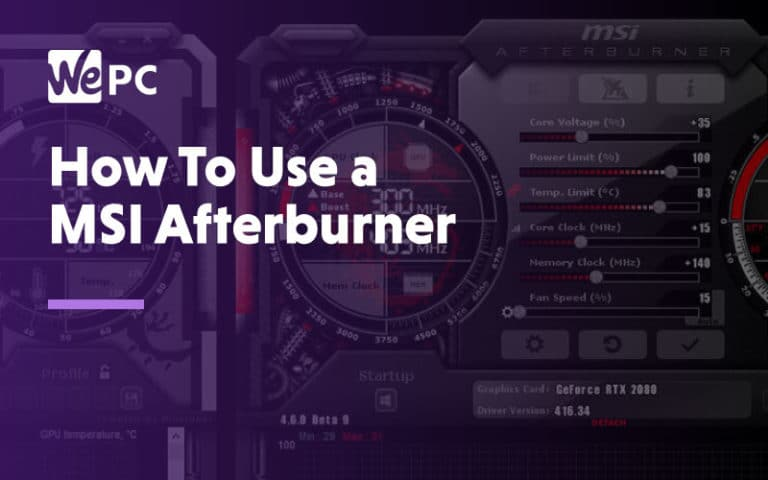 How to use a MSI afterburner