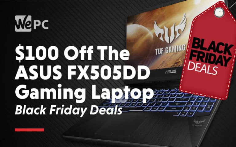 100 dollars off the asus FX505DD gaming laptop black friday deals