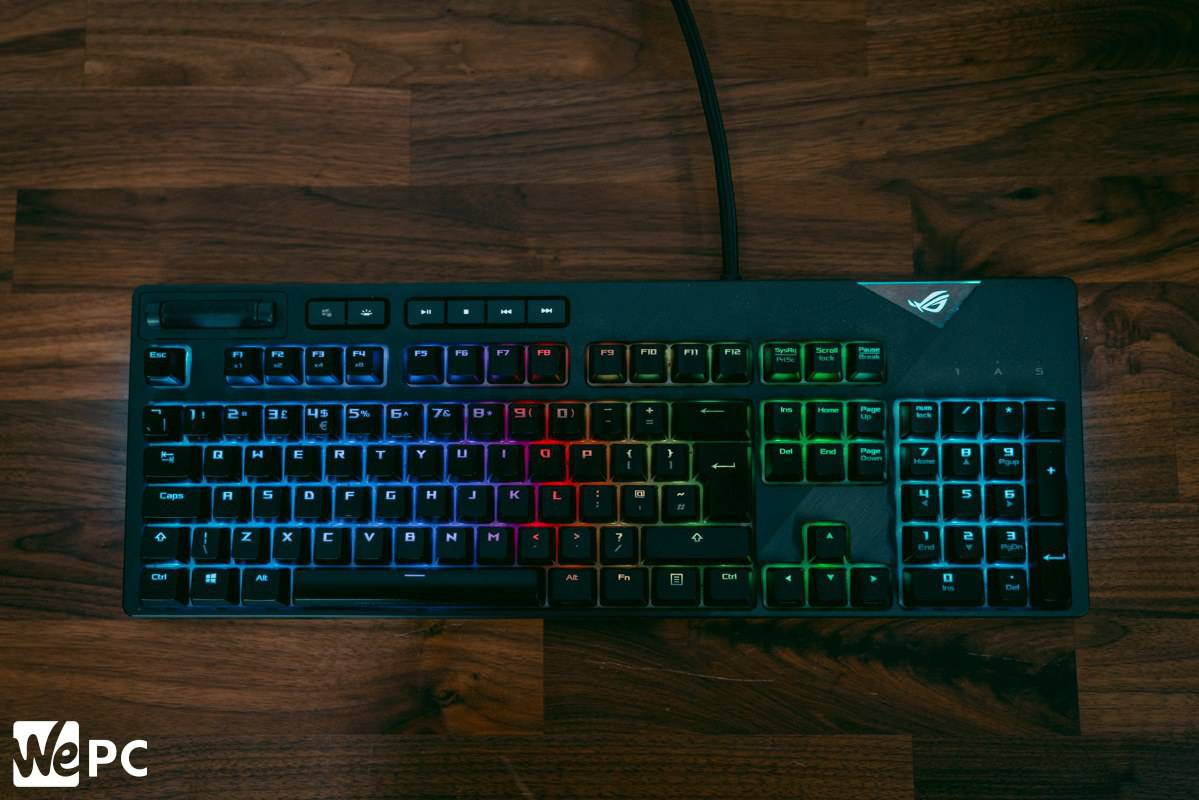 Asus ROG Strix Flare Gaming Keyboard Top View