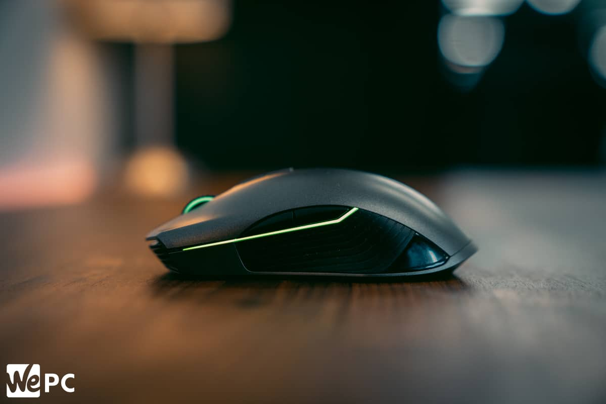 Razer Lancehead product shot of left side of mouse