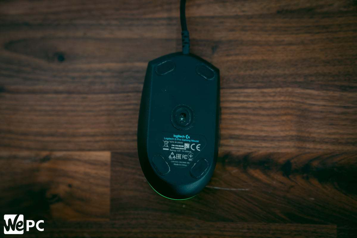Logitech G Pro Wired Product Bottom