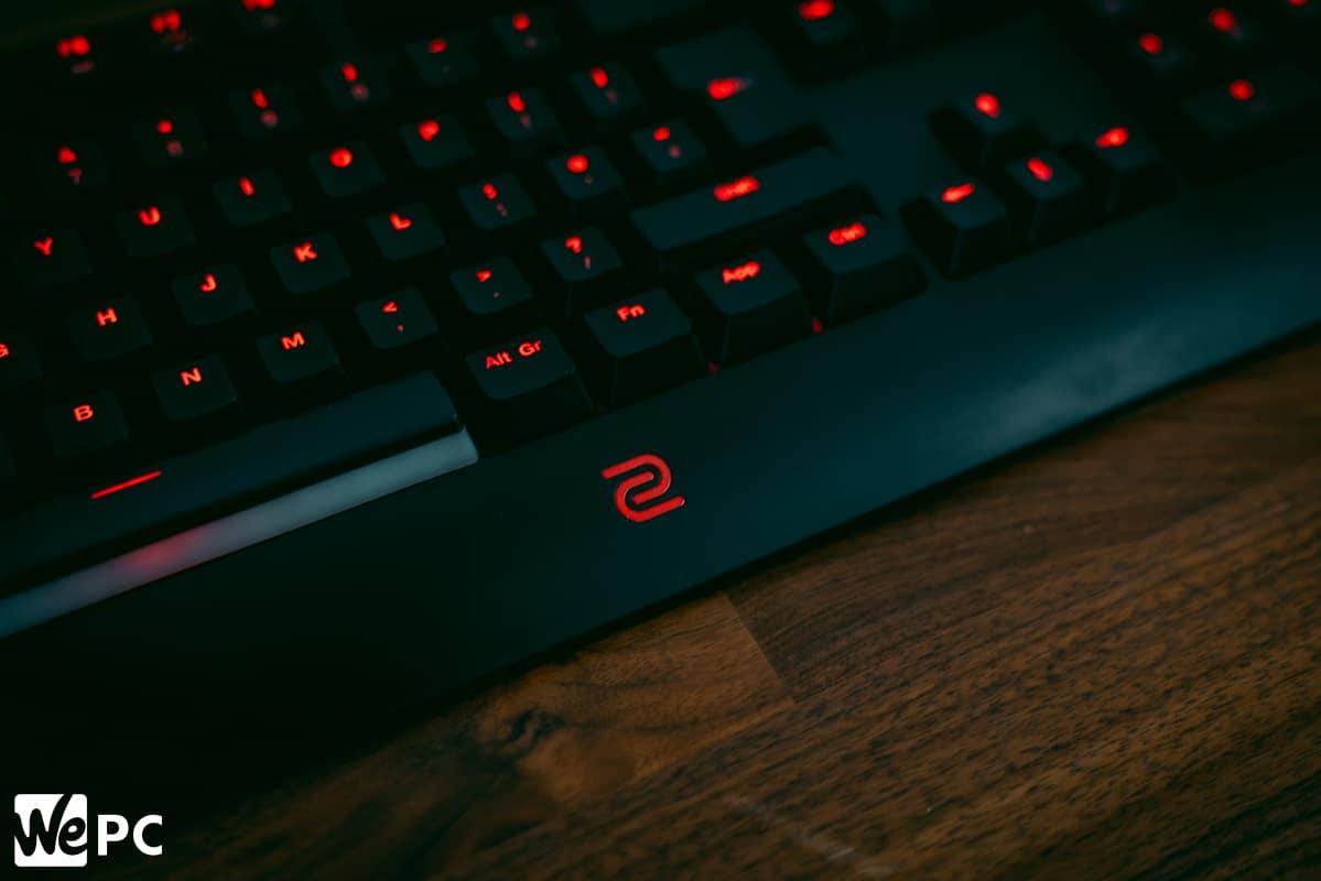 Zowie BenQ Celeritas II Keyboard Side Angle 2