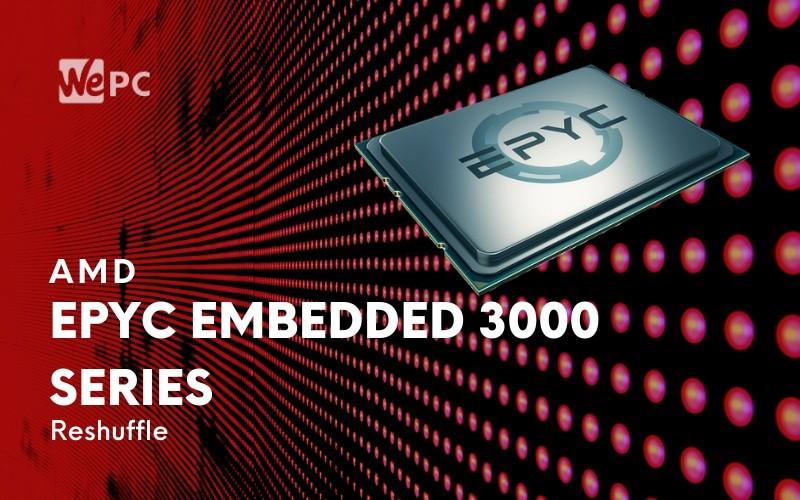 AMD Reshuffles EPYC Embedded 3000 Series Lineup