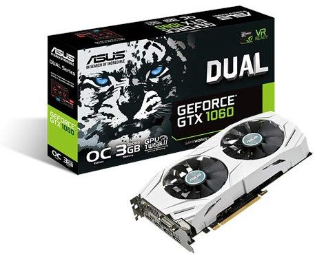 ASUS Dual Series GeForce GTX 1060 OC Edition 3 GB