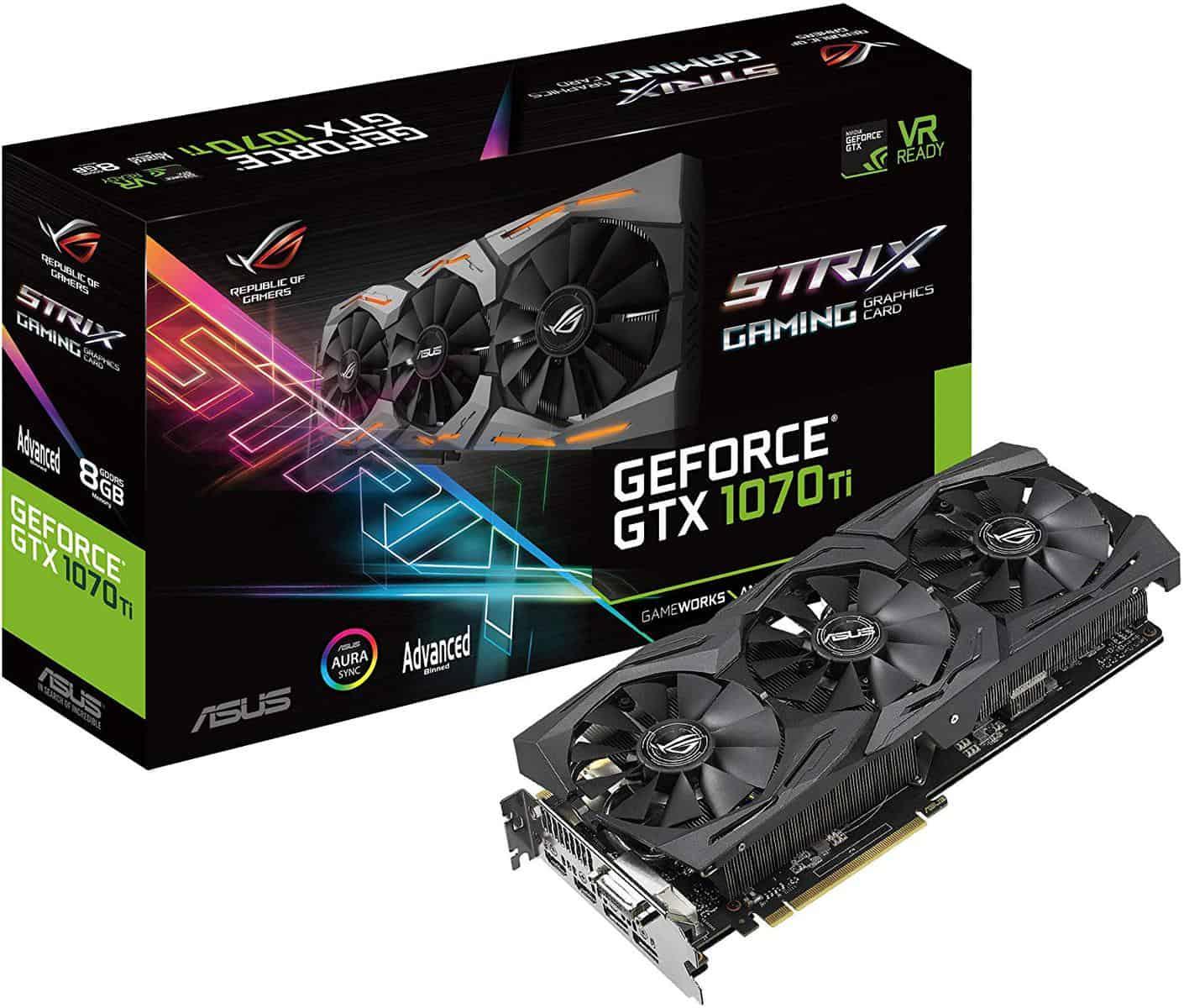ASUS ROG Strix GeForce GTX 1070 Ti Advanced Edition 8GB