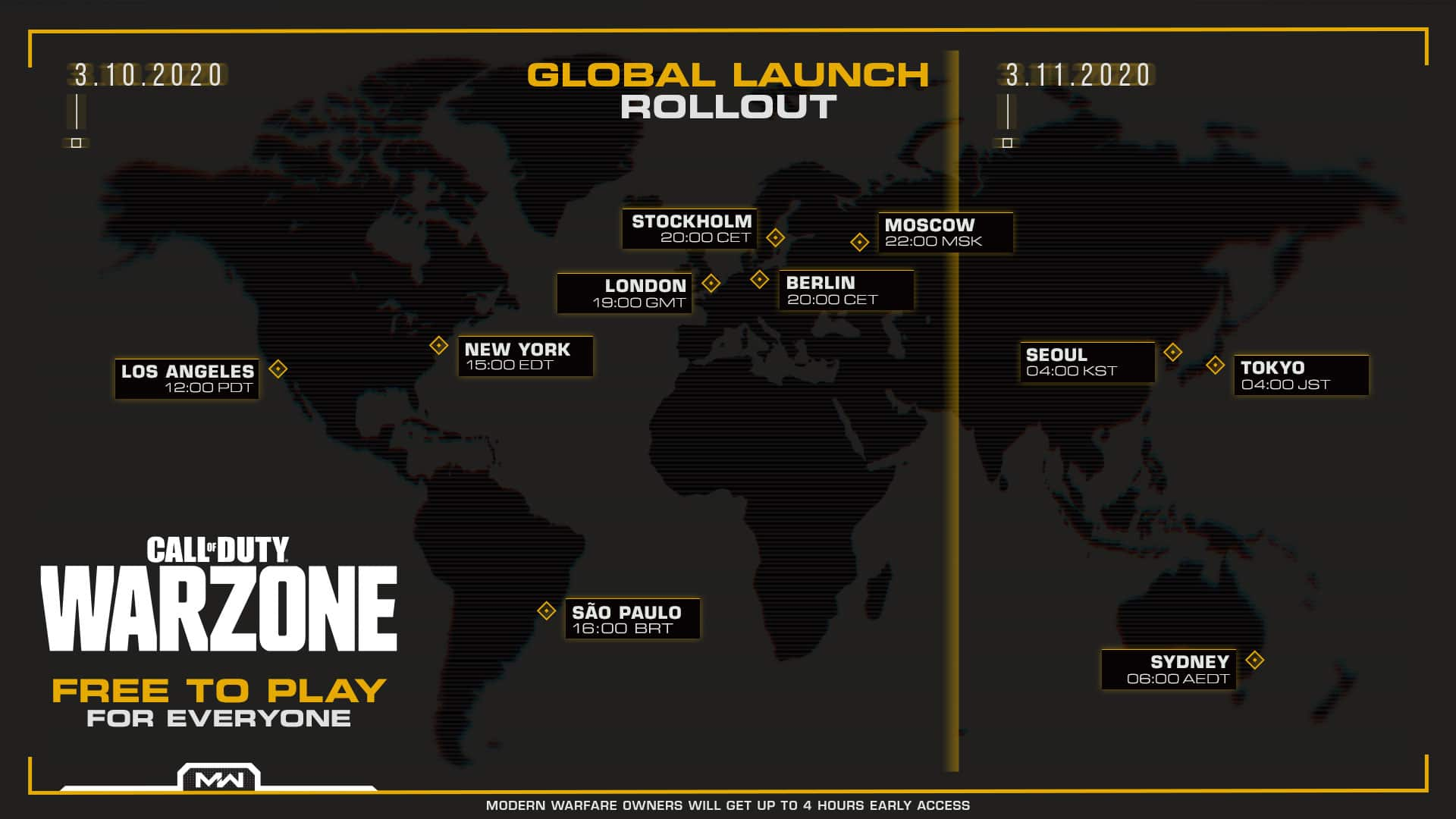 call of duty warzone release