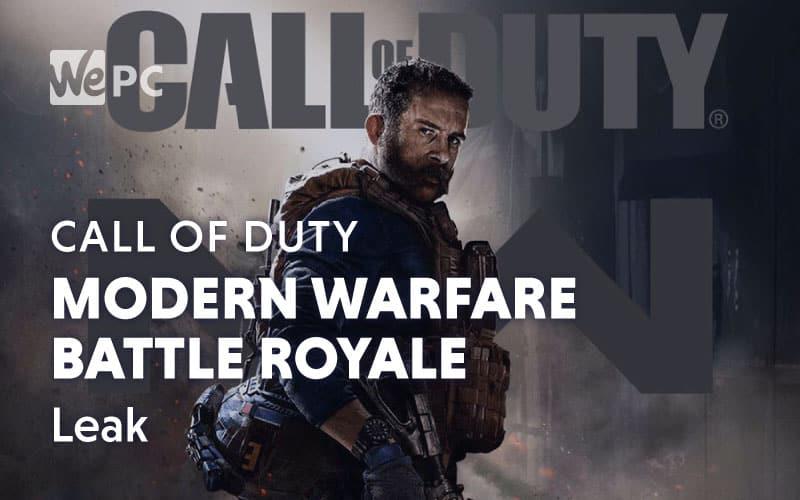 modern warfare battle royale leak