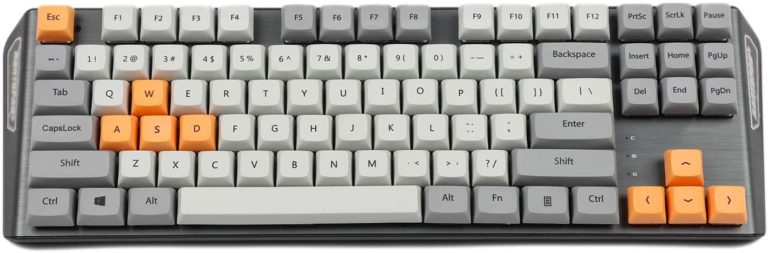 Arrial XDA 87 ANSI Gray Orange Mixed Keycap Set