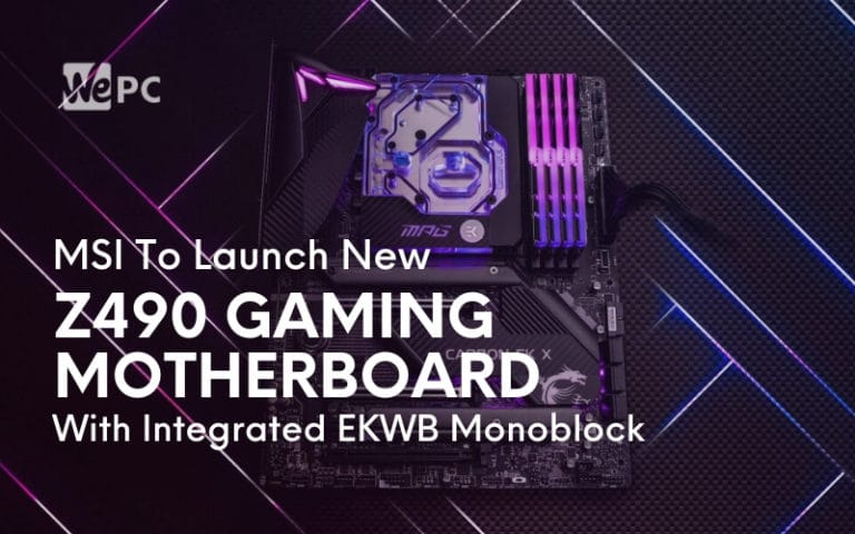 MSI To Launch New Z490 Gaming Motherboard With Integrated EKWB Monoblock