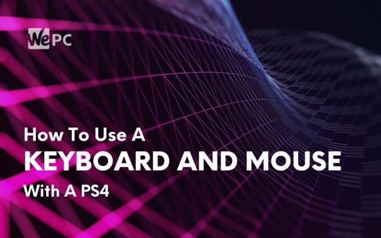 how to use a keyboard and mouse with ps4 1