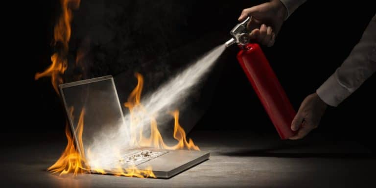 Laptop Aflame